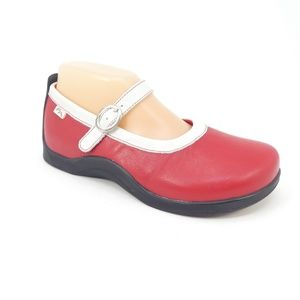 Footprints by Birkenstocks Red Leather Mary Janes